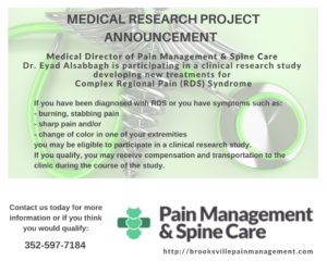 complex regional pain syndrome treatment spring hill